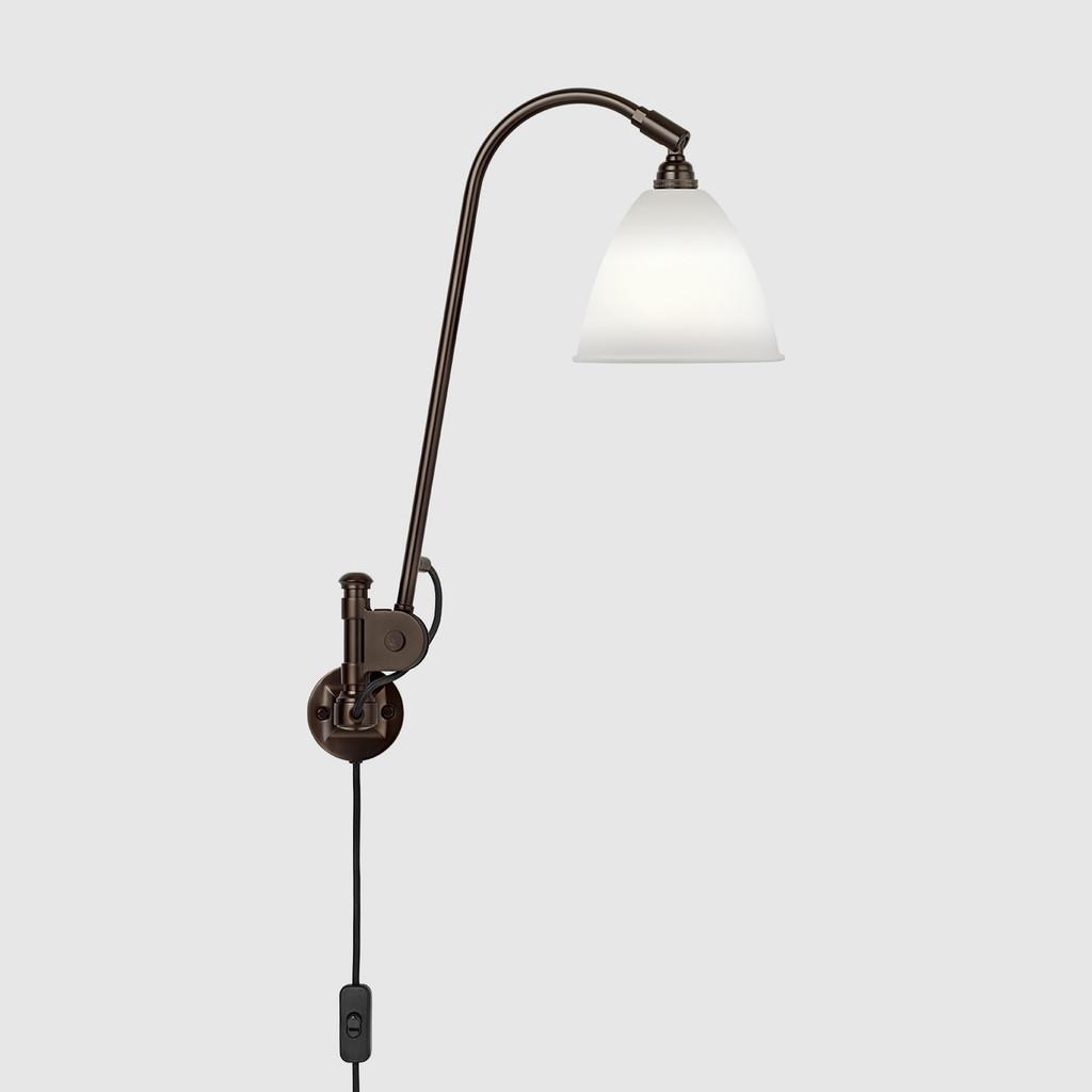 GUBI -  BESTLITE BL6 WALL LAMP - BLACK BRASS BASE (VARIOUS COLOUR SHADE)
