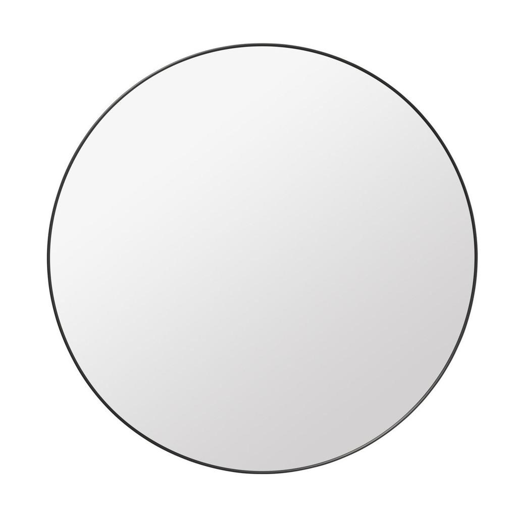 GUBI - ROUND WALL MIRROR - 110CMS DIAMETER - BLACK BRASS