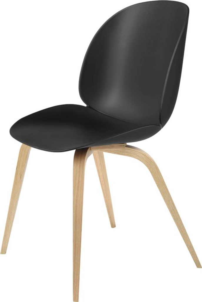 GUBI BEETLE UN-UPHOLSTERED DINING CHAIR - VARIOUS COLOURS WITH OAK LEGS