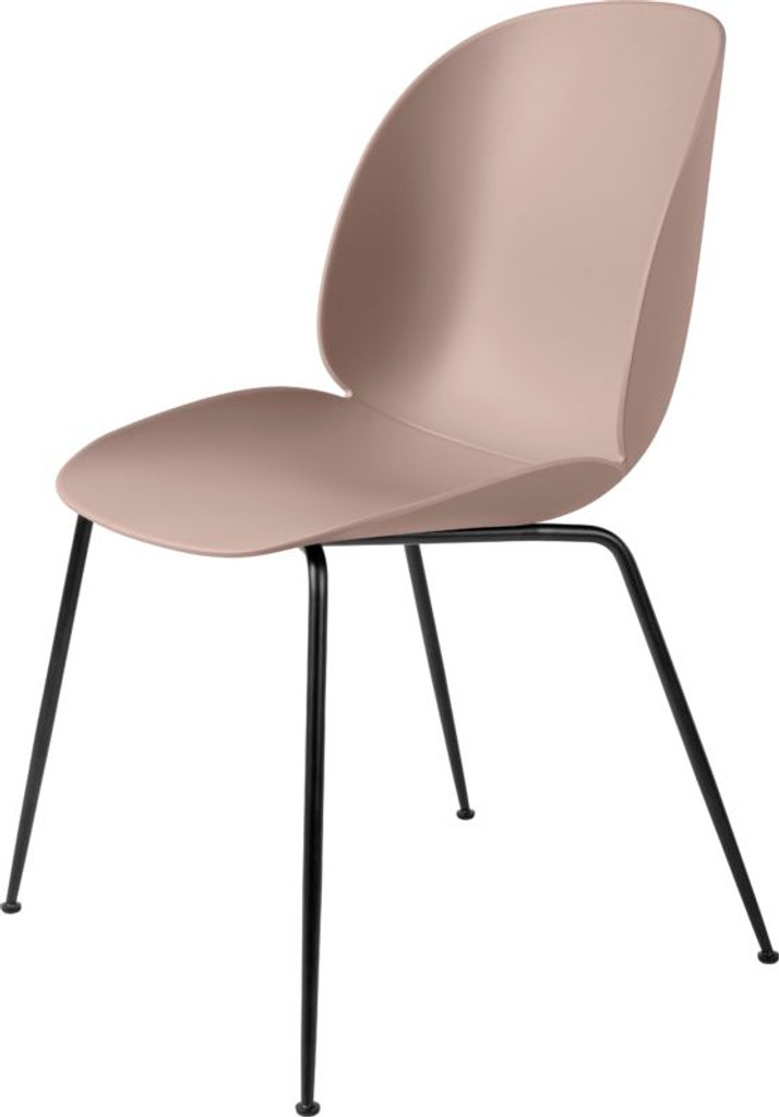 GUBI BEETLE UN-UPHOLSTERED DINING CHAIR CONIC BLACK BASE - (Various Colour)