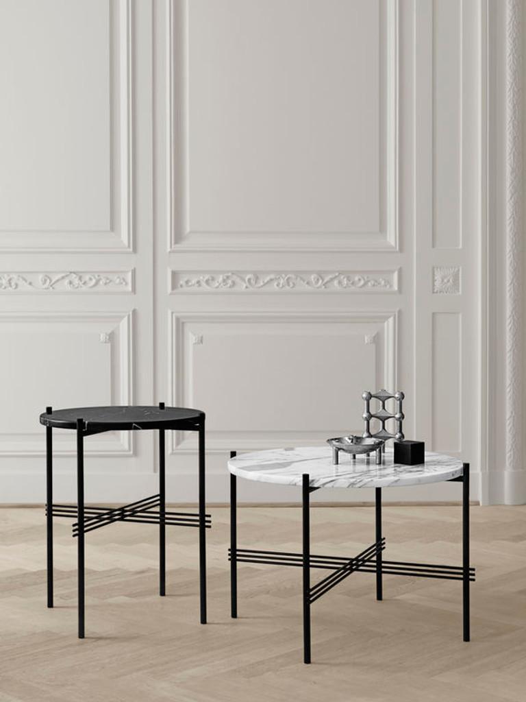 GUBI - TS TABLE BLACK GLASS TOP - S (VARIOUS COLOURS)