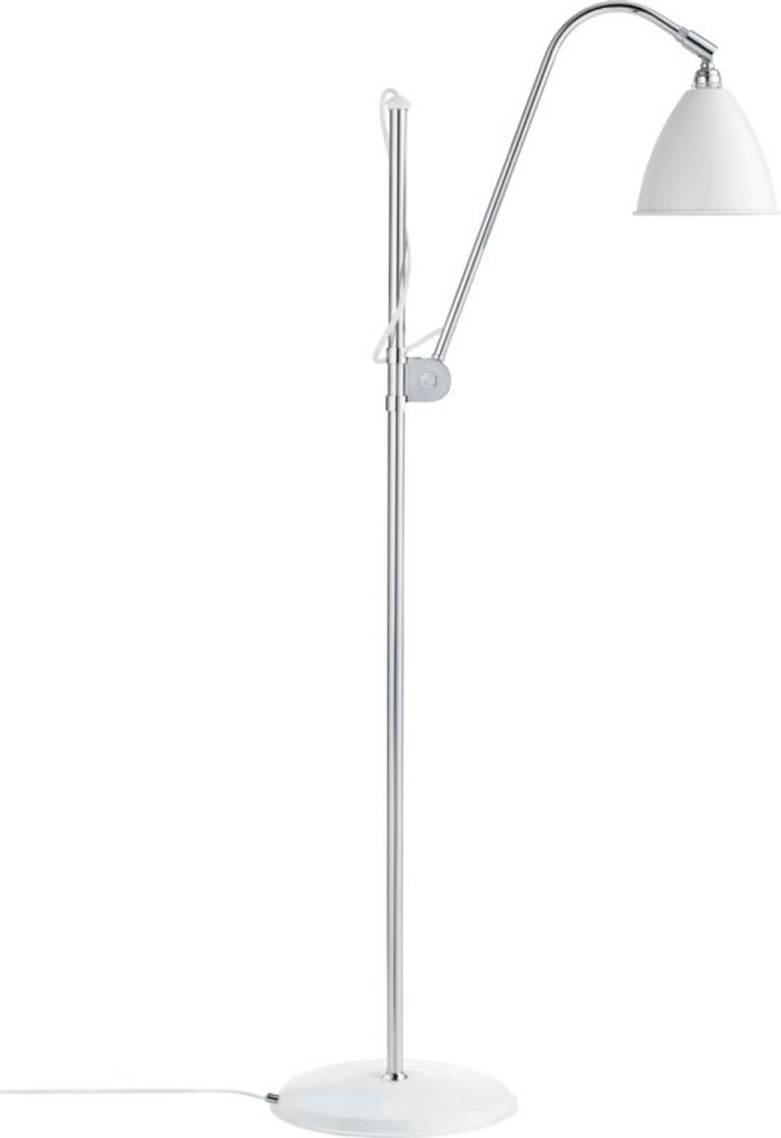 GUBI -  BL3 MEDIUM FLOOR LAMP CHROME BASE (VARIOUS COLOURS)