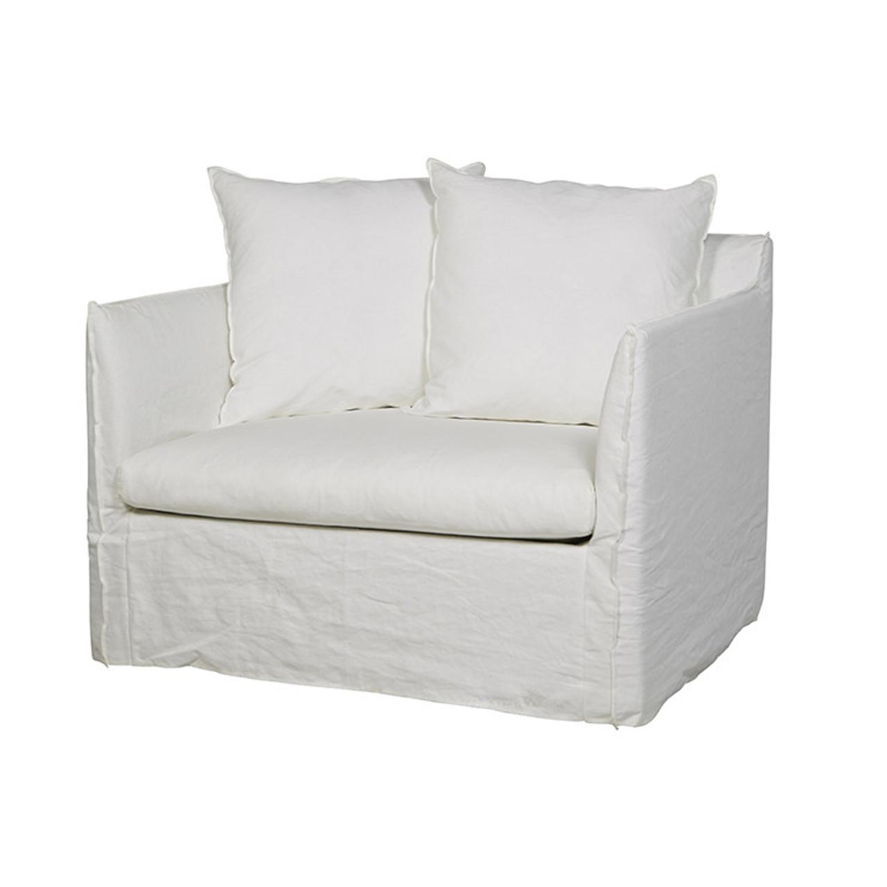Picture of: Vittoria Slip Cover Sofa Chair Milk Globewest