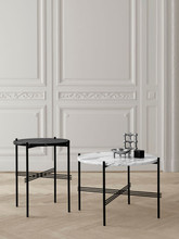 GUBI - TS TABLE BLACK BASE MARBLE TOP - M (VARIOUS COLOURS)