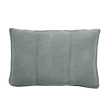 EADIE LIFESTYLE - LUCA RECTANGULAR CUSHION SILVER GREY