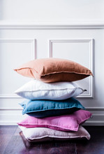 EADIE LIFESTYLE - LUCA SQUARE CUSHION WHITE