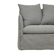 VITTORIA SLIP COVER SOFA CHAIR WASHED SMOKE