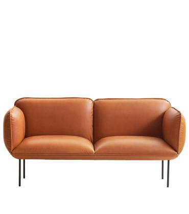 NAKKI 2 SEAT SOFA - TAN LEATHER