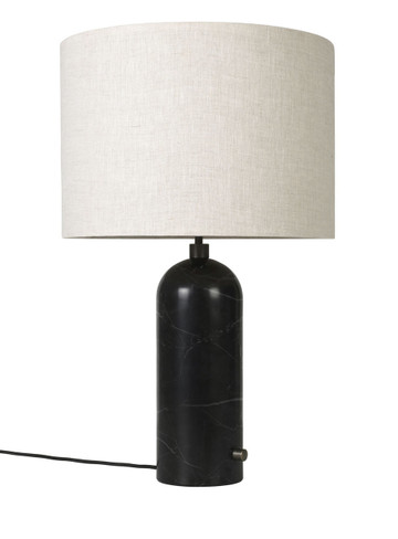 GRAVITY TABLE LAMP BLACK MARBLE - LARGE