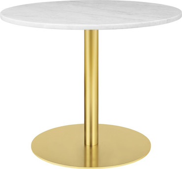 1.0 LOUNGE TABLE ROUND 80CM BRASS BASE
