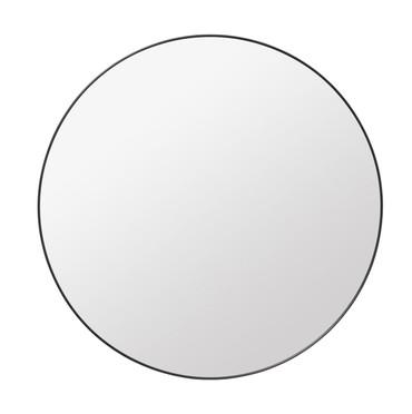 ROUND WALL MIRROR - 110CMS DIAMETER - BLACK BRASS