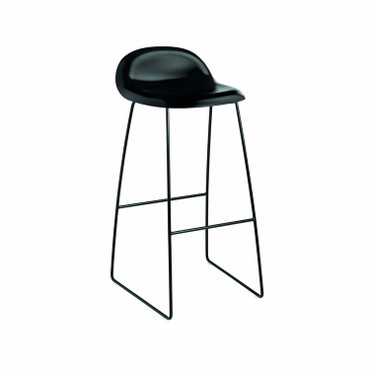 black seat with black base