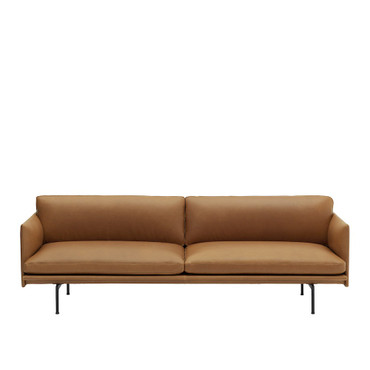 OUTLINE SOFA 3 SEATER COGNAC LEATHER