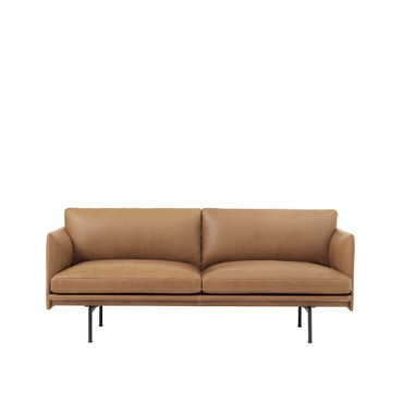 OUTLINE SOFA 2 SEATER COGNAC LEATHER
