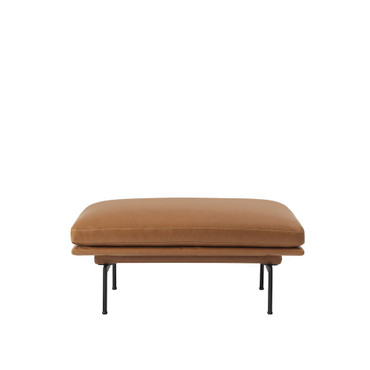 OUTLINE POUF COGNAC LEATHER