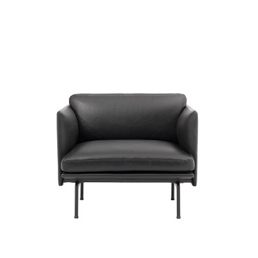 OUTLINE CHAIR BLACK LEATHER