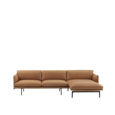 OUTLINE CHAISE LOUNGE COGNAC LEATHER
