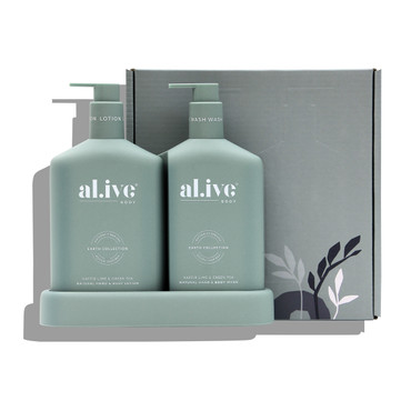 KAFFIR LIME AND GREEN TEA WASH AND LOTION DUO SET & TRAY 500ml