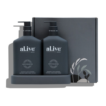 COCONUT AND WILD ORANGE WASH AND LOTION DUO SET & TRAY 500ml