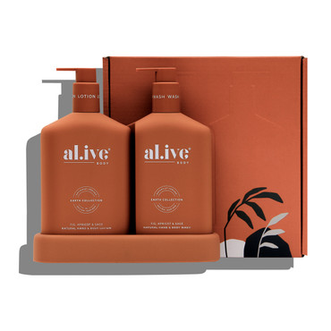FIG, APRICOT AND SAGE, WASH AND LOTION DUO SET & TRAY 500ml