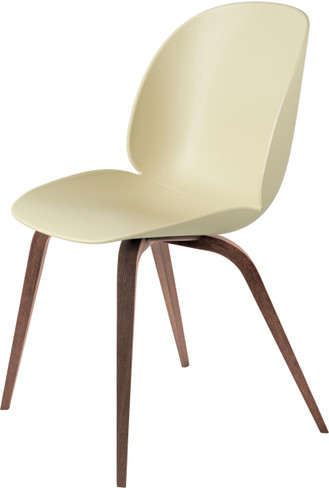 BEETLE DINING CHAIR WALNUT WOODEN BASE
