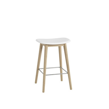 FIBER BAR STOOL WITH WOODEN BASE