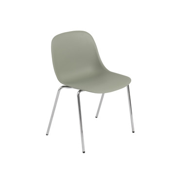 FIBER SIDE CHAIR WITH CHROME TUBE BASE