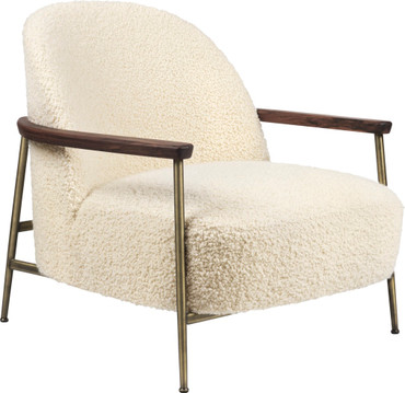SEJOUR LOUNGE CHAIR - FULLY UPHOLSTERED, WITH ARMRESTS