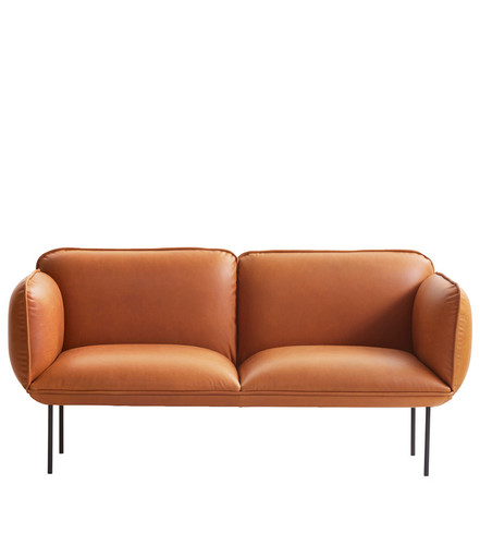 WOUD - NAKKI 2 SEAT SOFA - TAN LEATHER