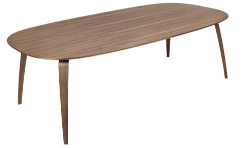 GUBI - DINING TABLE ELLIPTICAL WALNUT