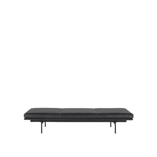 OUTLINE DAYBED BLACK LEATHER