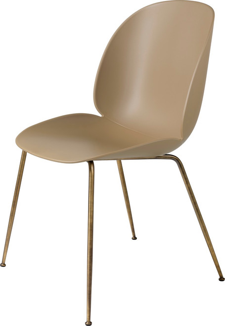 BEETLE DINING CHAIR ANTIQUE BRASS CONIC BASE