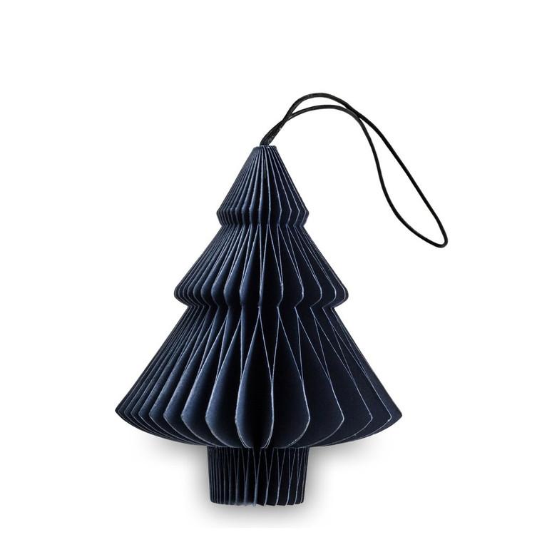 NORDSTJERNE - MIDNIGHT BLUE PAPER TREE CHRISTMAS ORNAMENT