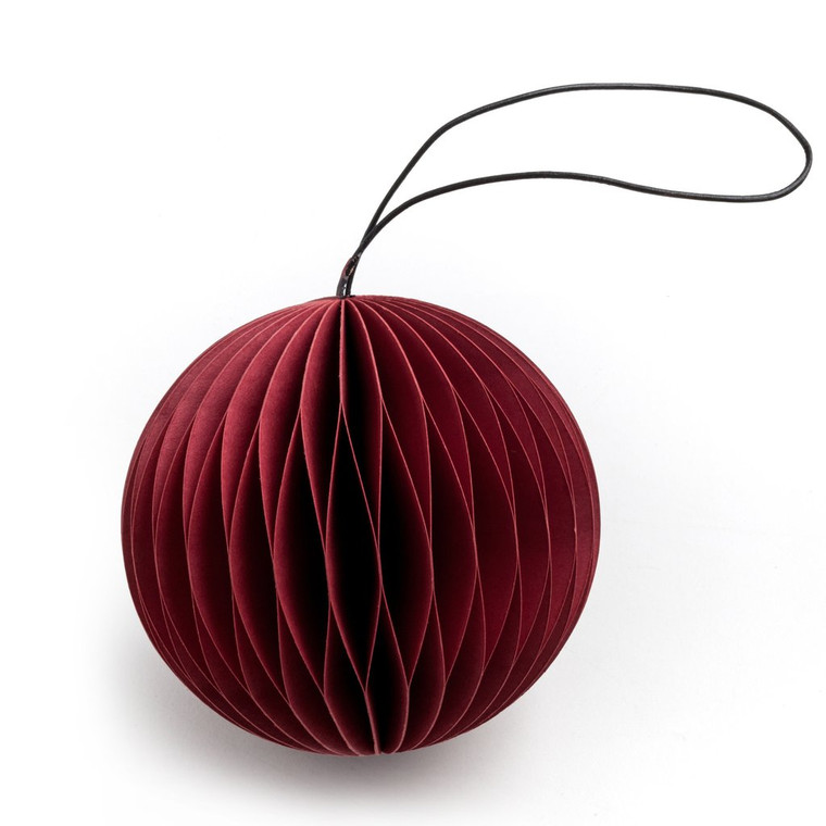 NORDSTJERNE - RED PAPER SCOOP CHRISTMAS ORNAMENT