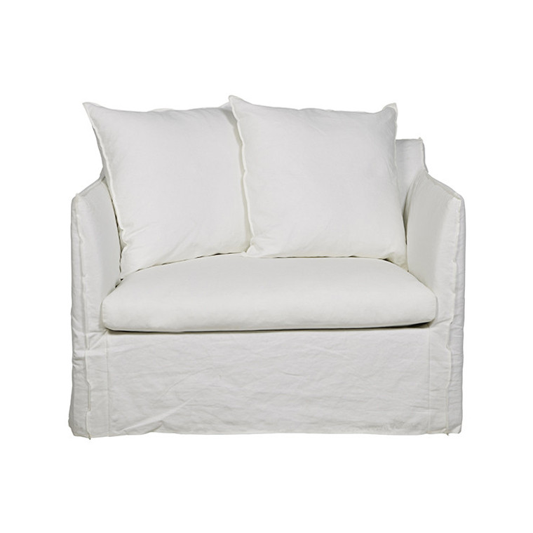 VITTORIA SLIP COVER SOFA CHAIR MILK