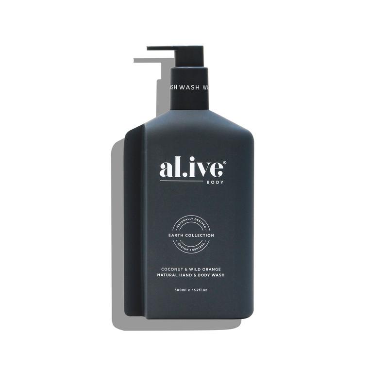 AL.IVE - COCONUT AND WILD ORANGE HAND & BODY WASH 500ml