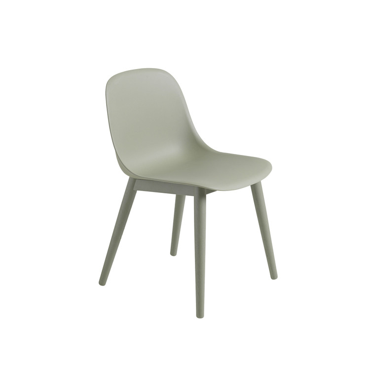 FIBER SIDE CHAIR WITH WOODEN BASE (VARIOUS COLOURS)