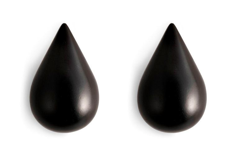 NORMANN COPENHAGEN - DROPIT HOOK BLACK 2 PCS SMALL