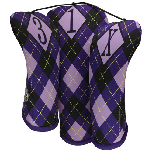 REGAL ARGYLE PURPLE PRINT