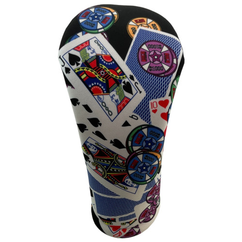 All-In Casino Themed Golf Club Head Cover by BeeJos - Front