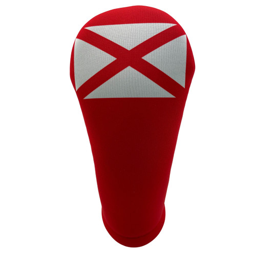 Alabama State Flag Golf Club Head Cover Center Angle