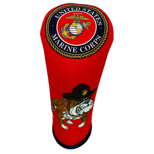 US Marine Corps Bulldog Driver Head Cover from BeeJos - Front