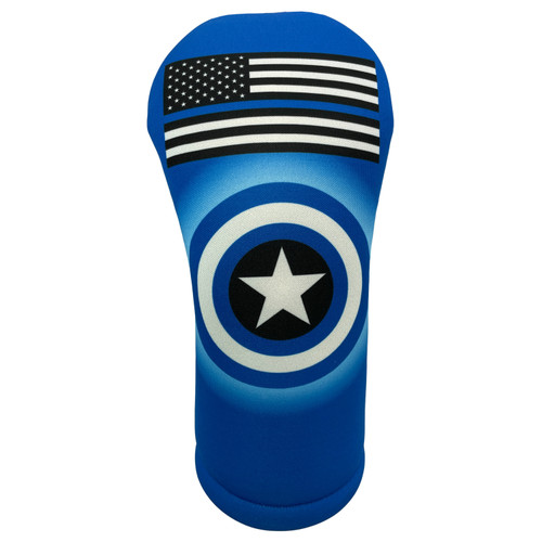 Thin Blue Line Driver Head Cover from BeeJos - Front