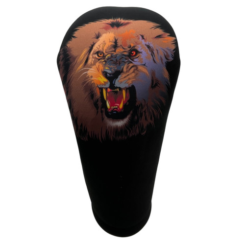 Animated Animals Lion Golf Club Head Cover by BeeJos - Front