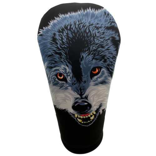 Animated Animals The Wolf Golf Club Head Cover by BeeJos - Front