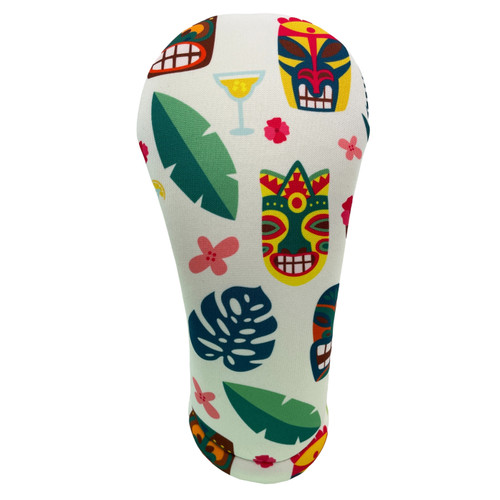 Hawaiian Masks Print Golf Club Head Cover by BeeJos - Front