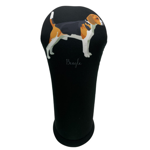 Dog Breed Beagle Golf Club Head Cover - Front