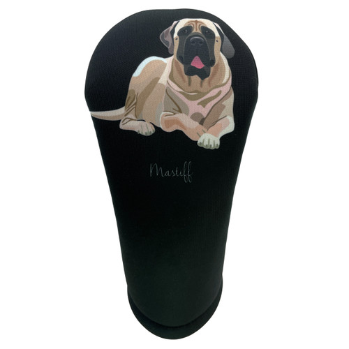 Dog Breed English Mastiff Golf Club Head Cover - Front