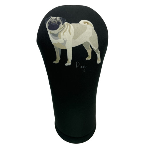 Dog Breed Pug Golf Club Head Cover - Front