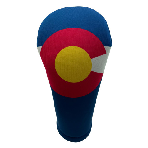 Colorado State Flag Golf Club Head Cover - Front